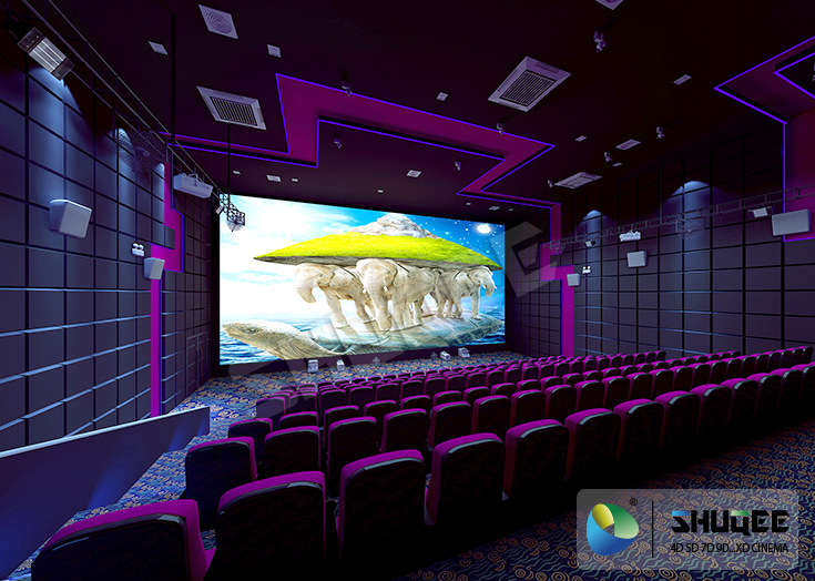3D Sound Vibration Movie Theater With Special Effect Machine | 7D